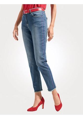 Mona 7/8-Jeans, mit sportiven Bändern kaufen