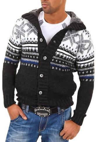 behype Strickjacke »CARISMA«, mit modischem Norweger-Muster kaufen