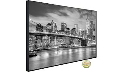 Papermoon Infrarotheizung »EcoHeat - Brooklyn Brücke«, Aluminium, 900 W, 74 x 120 cm,... kaufen