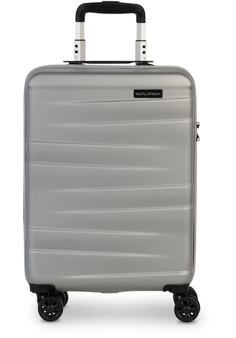 WORLDPACK Hartschalen-Trolley »Montreal, 55 cm, silber«, 4 Rollen kaufen