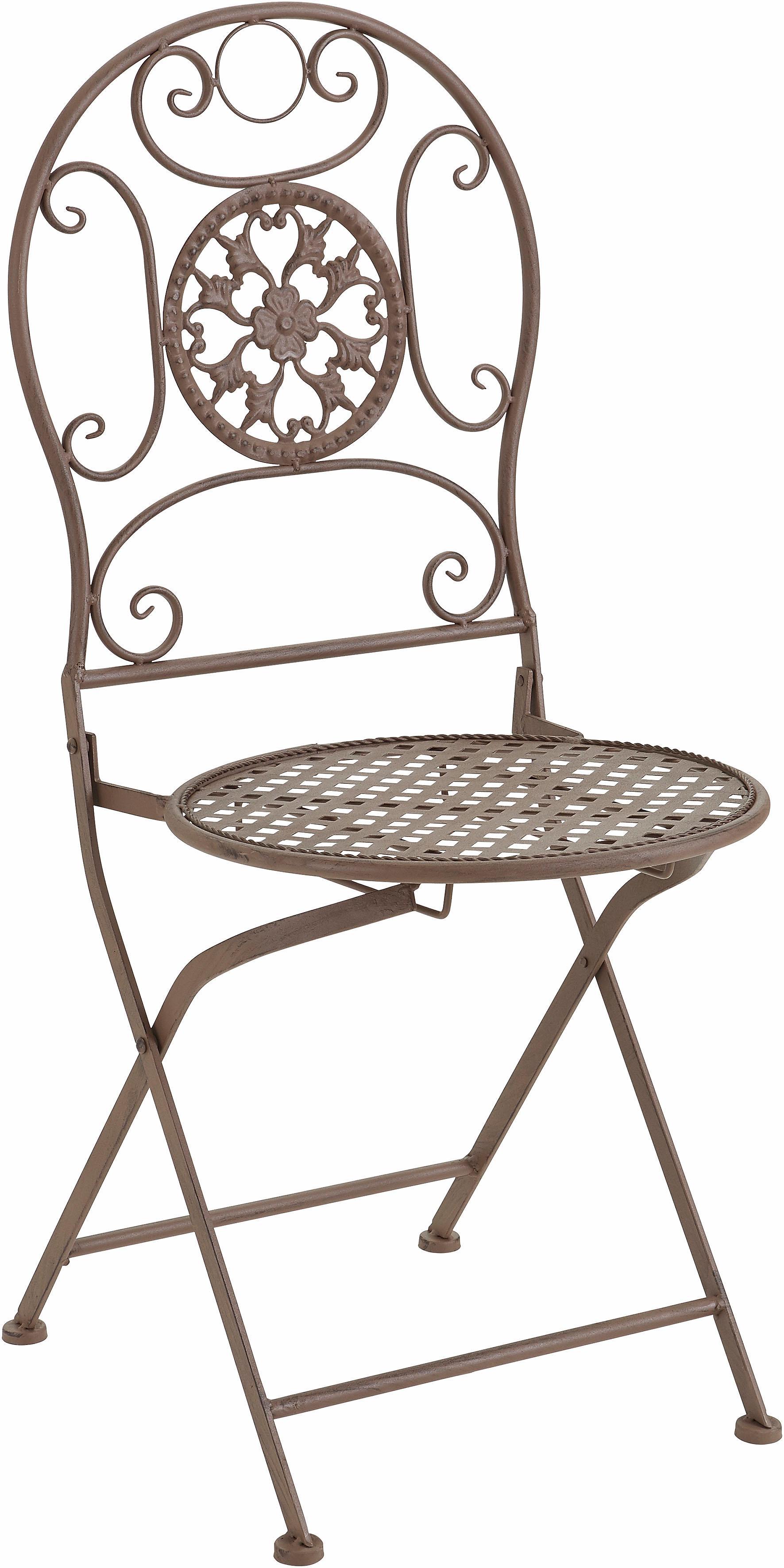 Home affaire Balkonstuhl aus Metall | Garten > Balkon > Balkonstühle | Braun | Home Affaire
