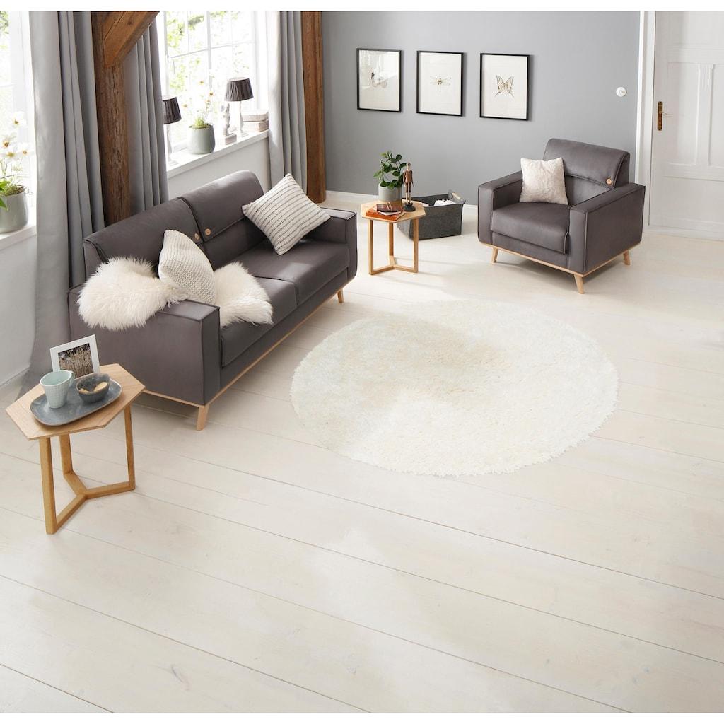 merinos Hochflor-Teppich »Floki 861«, rund, 70 mm Höhe, Besonders weich durch Microfaser, Wohnzimmer