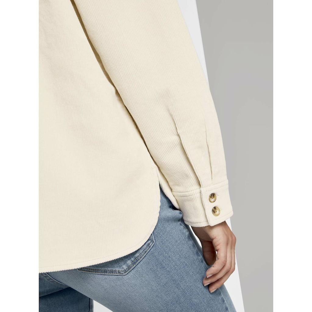 TOM TAILOR Denim Hemdbluse »Cordhemd mit Brusttaschen«