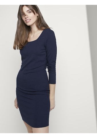TOM TAILOR Denim Bustierkleid »Bodycon Minikleid in Ripp-Optik« kaufen