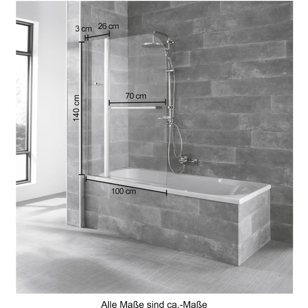 welltime Badewannenaufsatz »Mataro«, BxH: 100x140cm