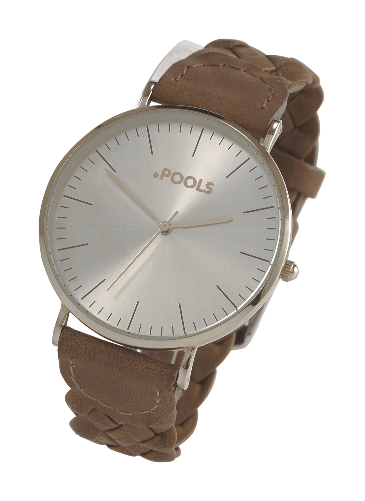 pools - Armbanduhr mir geflochtenem Band