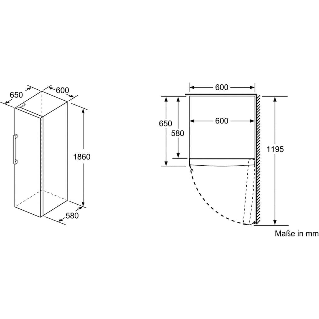 SIEMENS Gefrierschrank »GS29NVWEP«, iQ300, 161 cm hoch, 60 cm breit