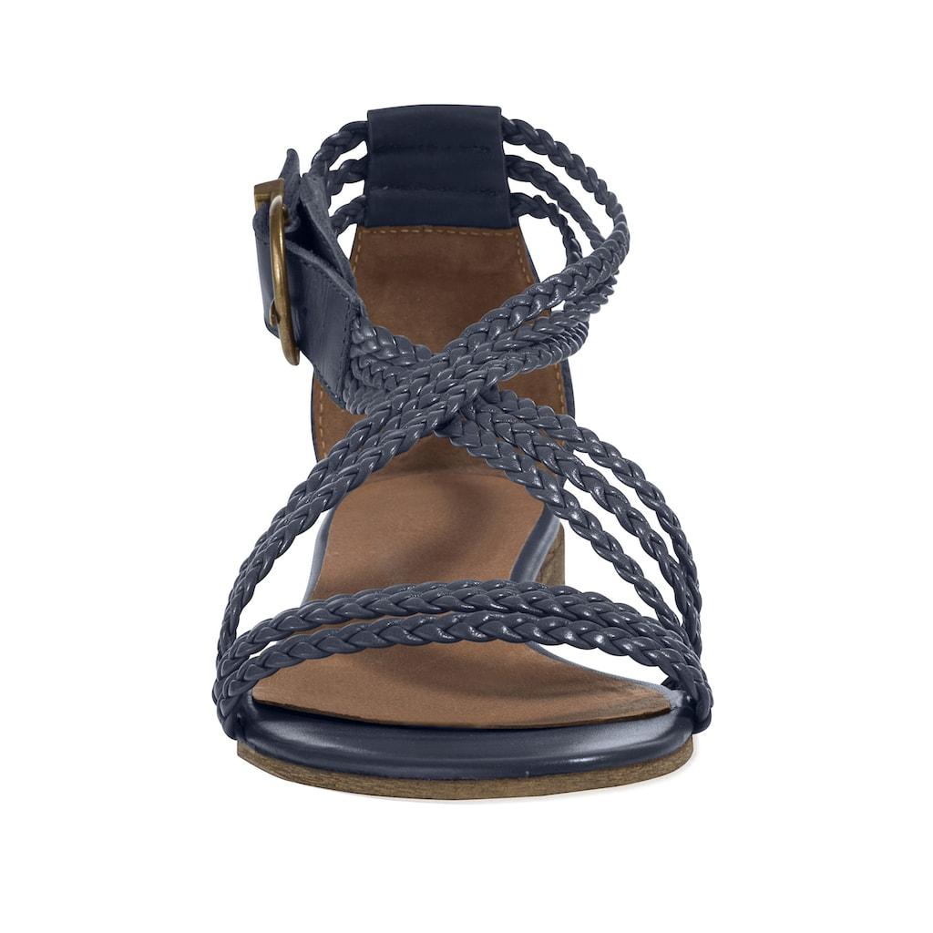 Sandalette mit geflochtenen Riemchen
