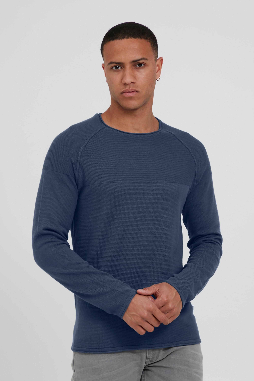 blend -  Strickpullover Adriano, Feinstrick-Pullover mit Ziernähten