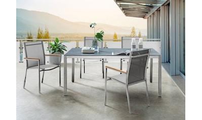 Destiny Gartenmöbelset »Macao-Sao Paulo«, 4 Stühle mit Tisch kaufen