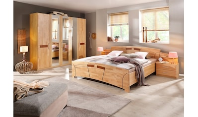 rauch BLACK Schlafzimmer-Set »Sarah«, (Set, 4 tlg.), mit Bett 180/200 und 5-oder 6-trg. Schrank kaufen