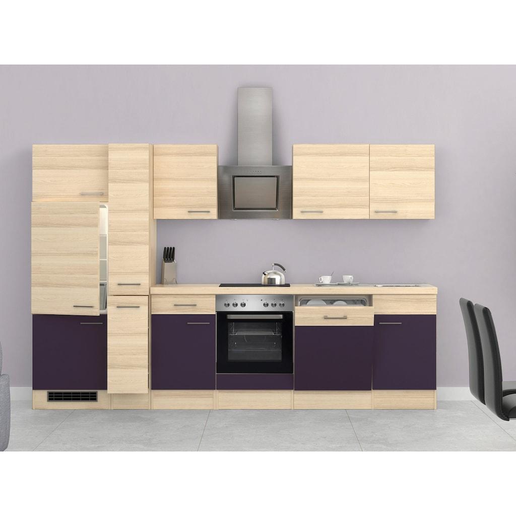 Flex-Well Küchenzeile, mit E-Geräten, Breite 310 cm