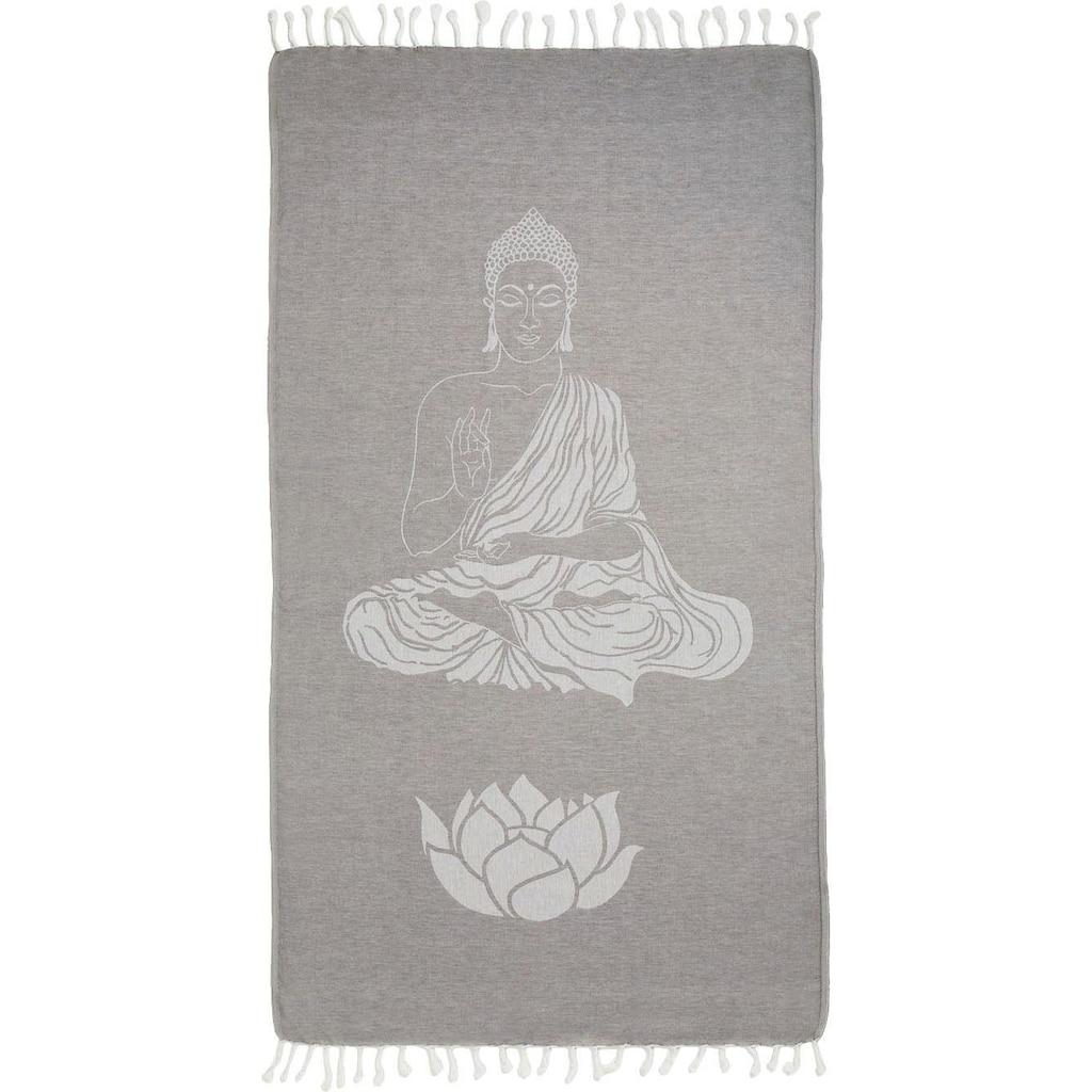 Seahorse Hamamtuch »Buddha«, (1 St.), mit Wellness Motiven