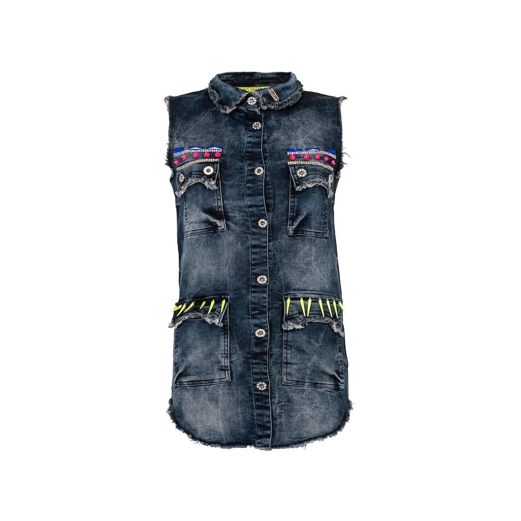 Cipo & Baxx Jeansweste, mit Extravagante Applikationen
