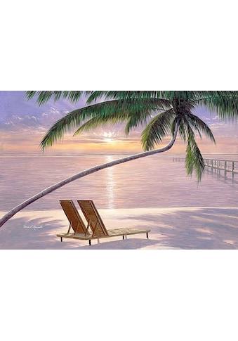 my home Leinwandbild »D. ROMANELLO / Liegestuhl für zwei«, (1 St.) kaufen
