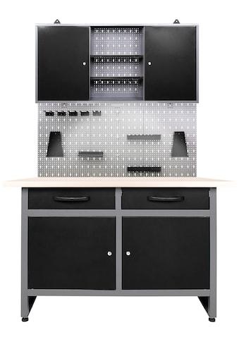ONDIS24 Werkstatt-Set »Werner«, 120 cm, mit Lochwandsystem inkl. Haken, mit LED kaufen
