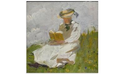 Artland Glasbild »Lesende Frau im Grünen. 1906«, Frau, (1 St.) kaufen