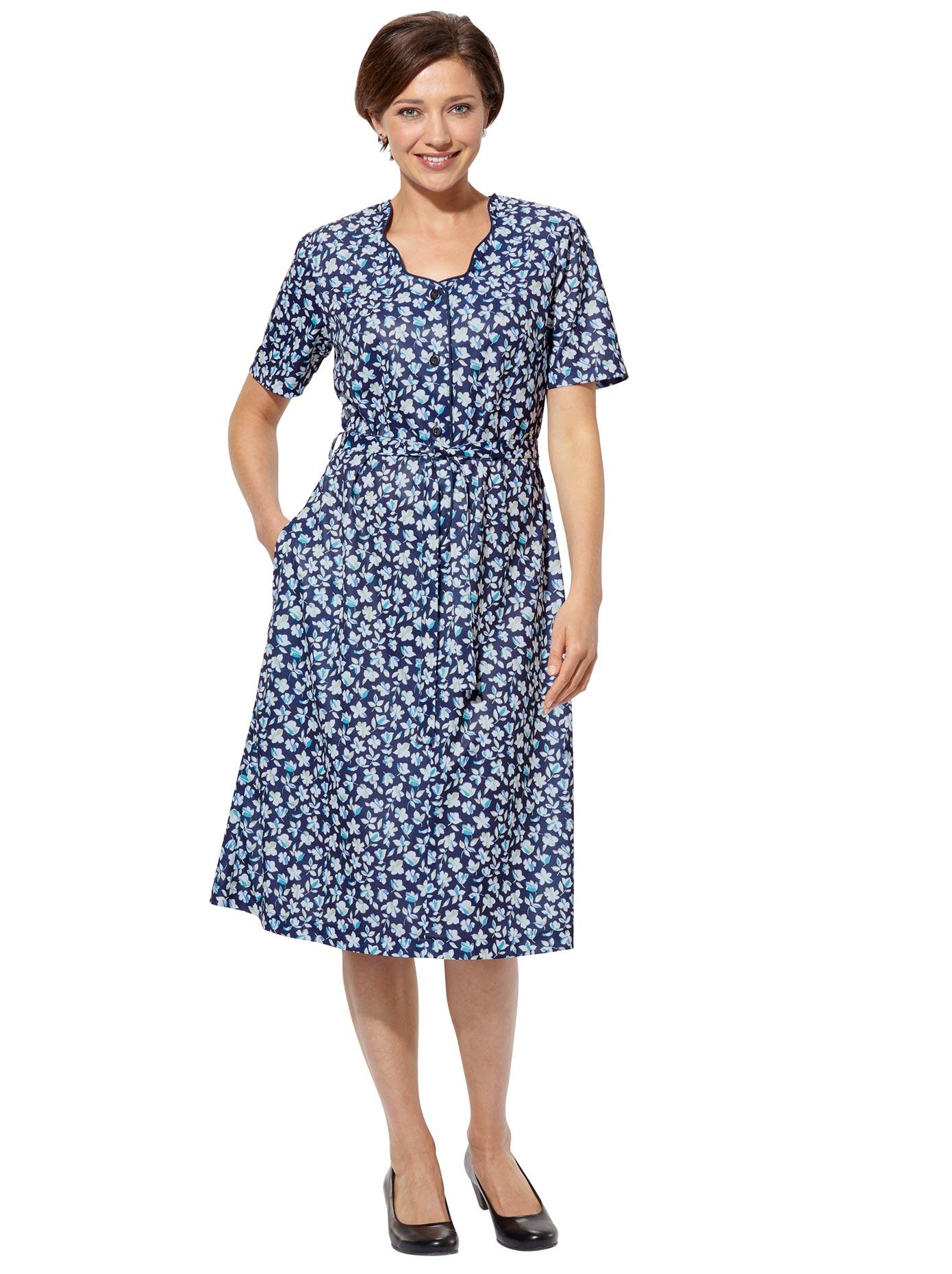Classic Basics Jersey-Kleid mit Bindegürtel