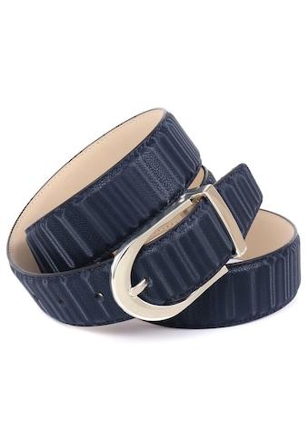 Anthoni Crown Ledergürtel, Gürtel aus innovativem Leder in 3D-Optik kaufen