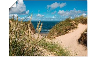 Artland Wandbild »Strand bei Vesterhav«, Strand, (1 St.), in vielen Größen & Produktarten - Alubild / Outdoorbild für den Außenbereich, Leinwandbild, Poster, Wandaufkleber / Wandtattoo auch für Badezimmer geeignet kaufen