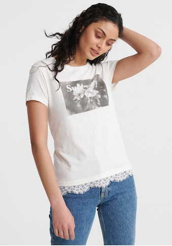 Superdry T-Shirt »TILLY LACE GRAPHIC TEE«, mit Spitzen-Details kaufen