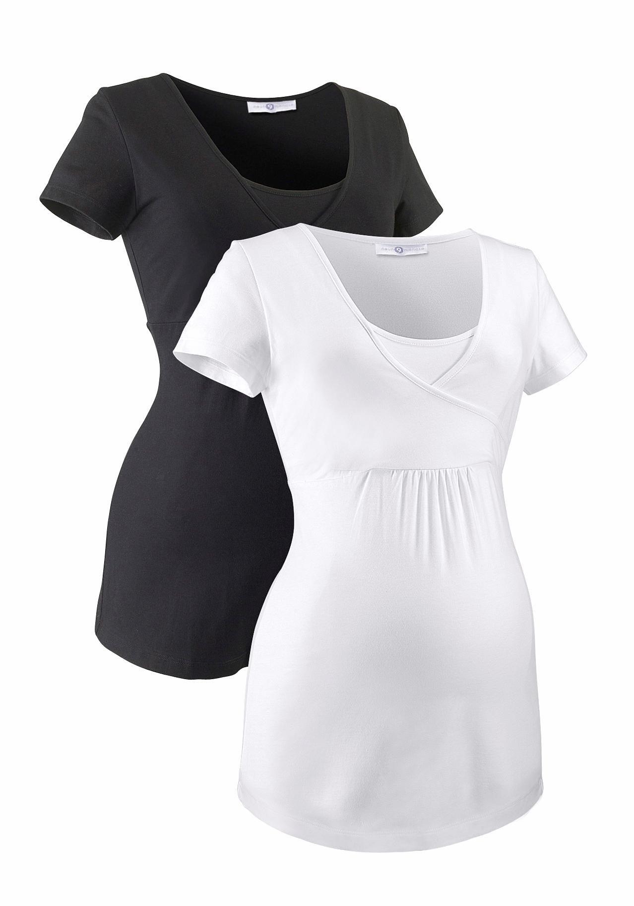 Neun Monate Umstandsshirt (Packung 2 tlg) | Bekleidung > Umstandsmode > Umstandsshirts | Schwarz | Neun Monate