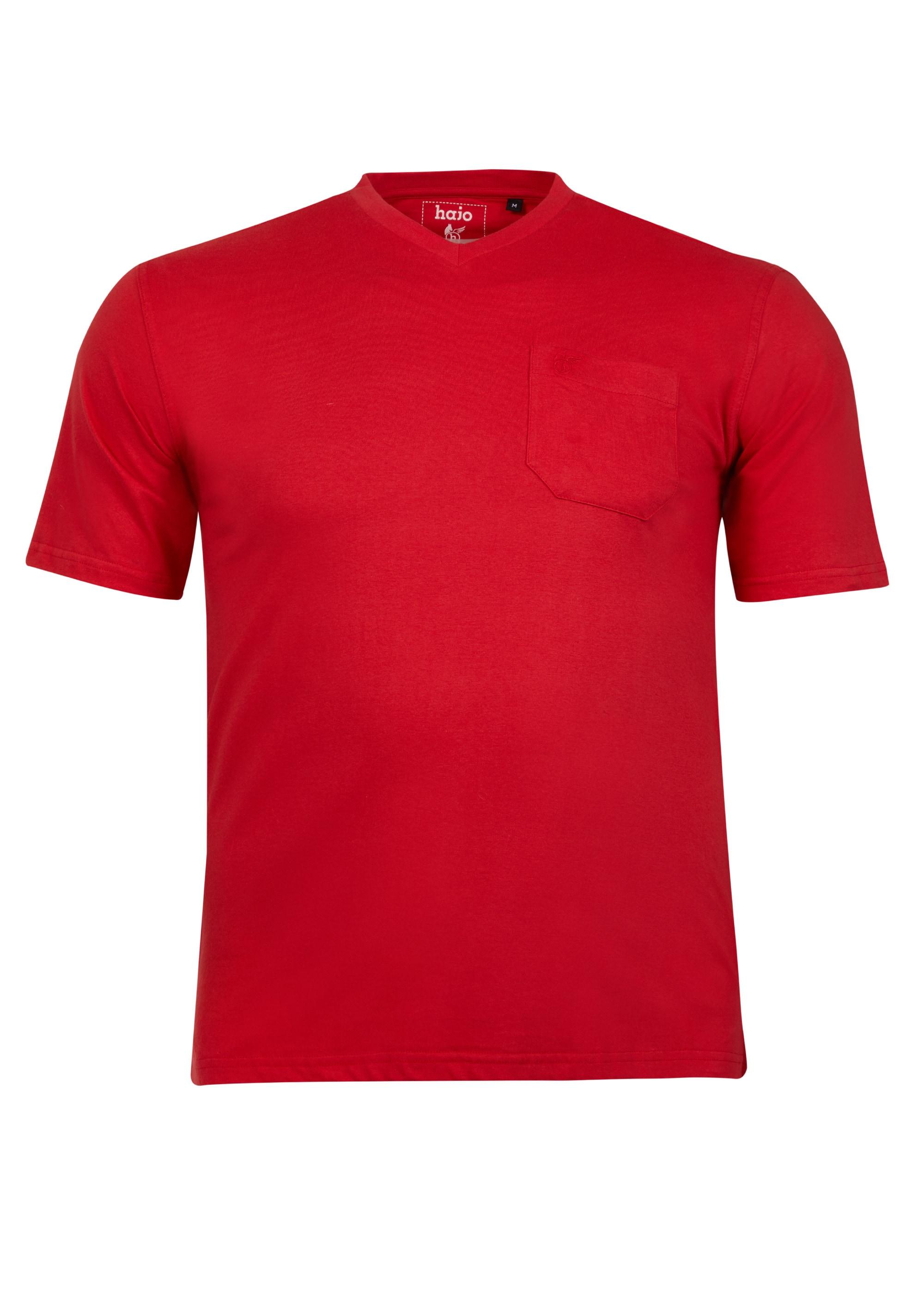 hajo -  T-Shirt, mit V-Ausschnitt