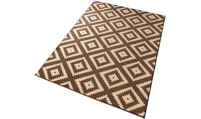 HANSE Home Teppich »Raute«, rechteckig, 9 mm Höhe, Velours Haptik, gekettelt, Wohnzimmer kaufen