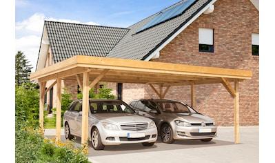 Kiehn-Holz Doppelcarport »KH 102«, Holz, 528 cm, grün, Alu-Dach kaufen