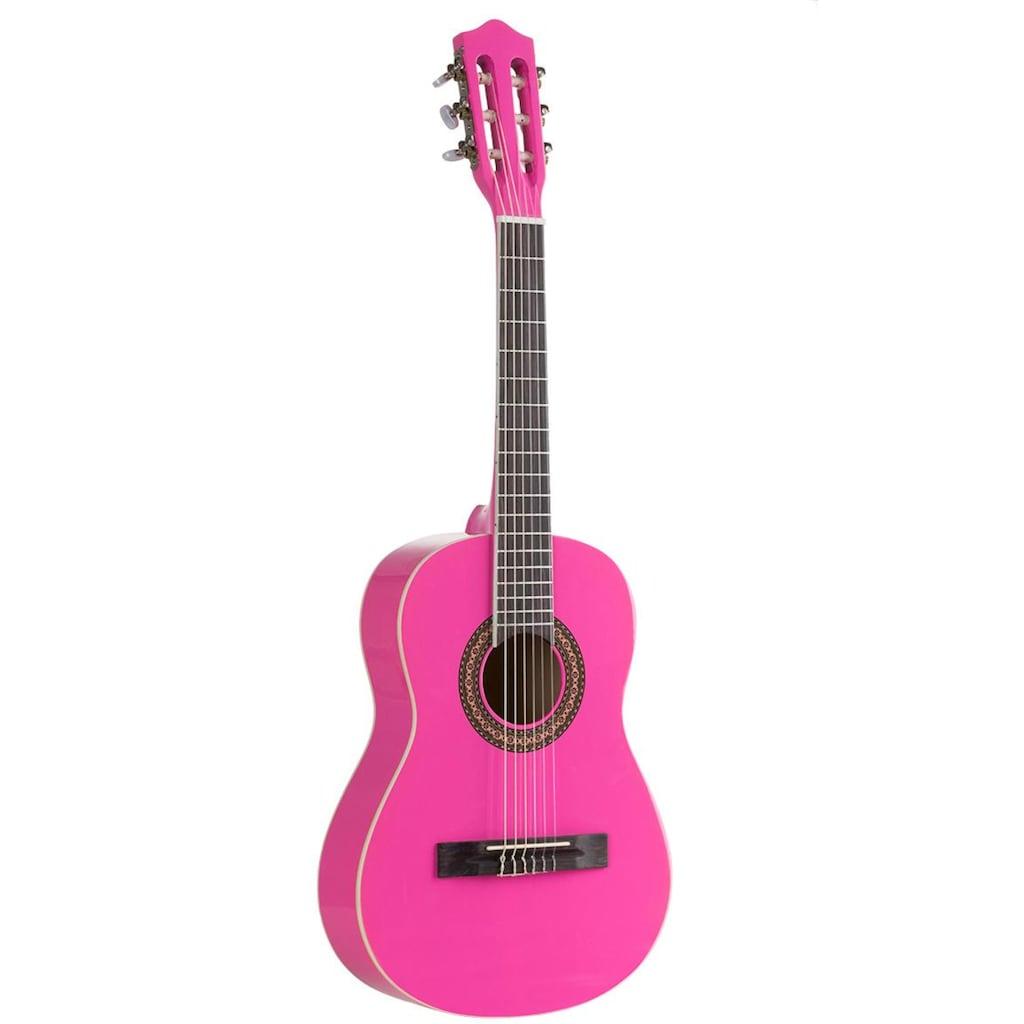 Voggenreiter Kindergitarre »Kindergitarre 1/2, pink«, 1/8
