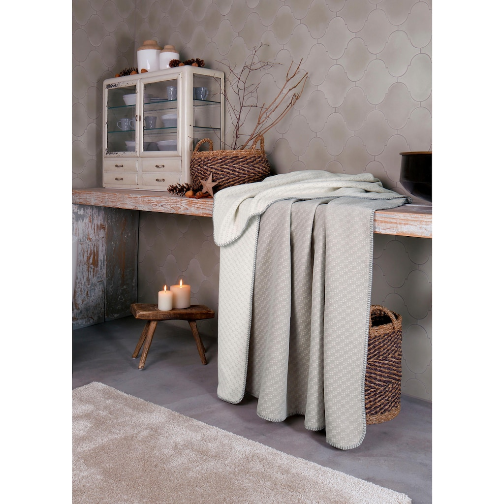 BIEDERLACK Wolldecke »Slot«, mit Muster