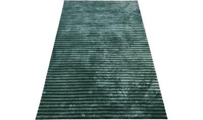 andas Teppich »Tilo«, rechteckig, 12 mm Höhe, Hoch-Tief-Optik, Wohnzimmer kaufen