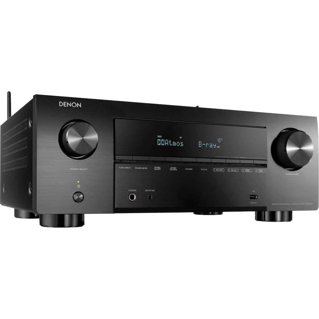 Denon AV-Receiver »AVCX3700 -9-Kanal«, 9, (LAN (Ethernet)-WLAN-Bluetooth automatische Lautsprecherkalibrierung-USB-Mediaplayer-Video Upscaling-Sprachsteuerung), kabellose Multiroom-Musikstreaming-Technologie HEOS Built-in