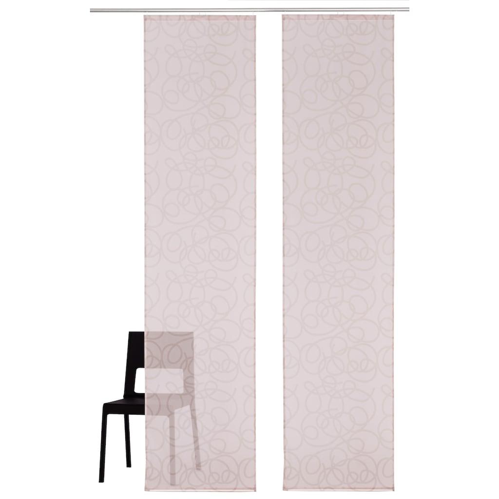 my home Schiebegardine »Tanaro«, Fertiggardine, inkl. Befestigungsmaterial, transparent