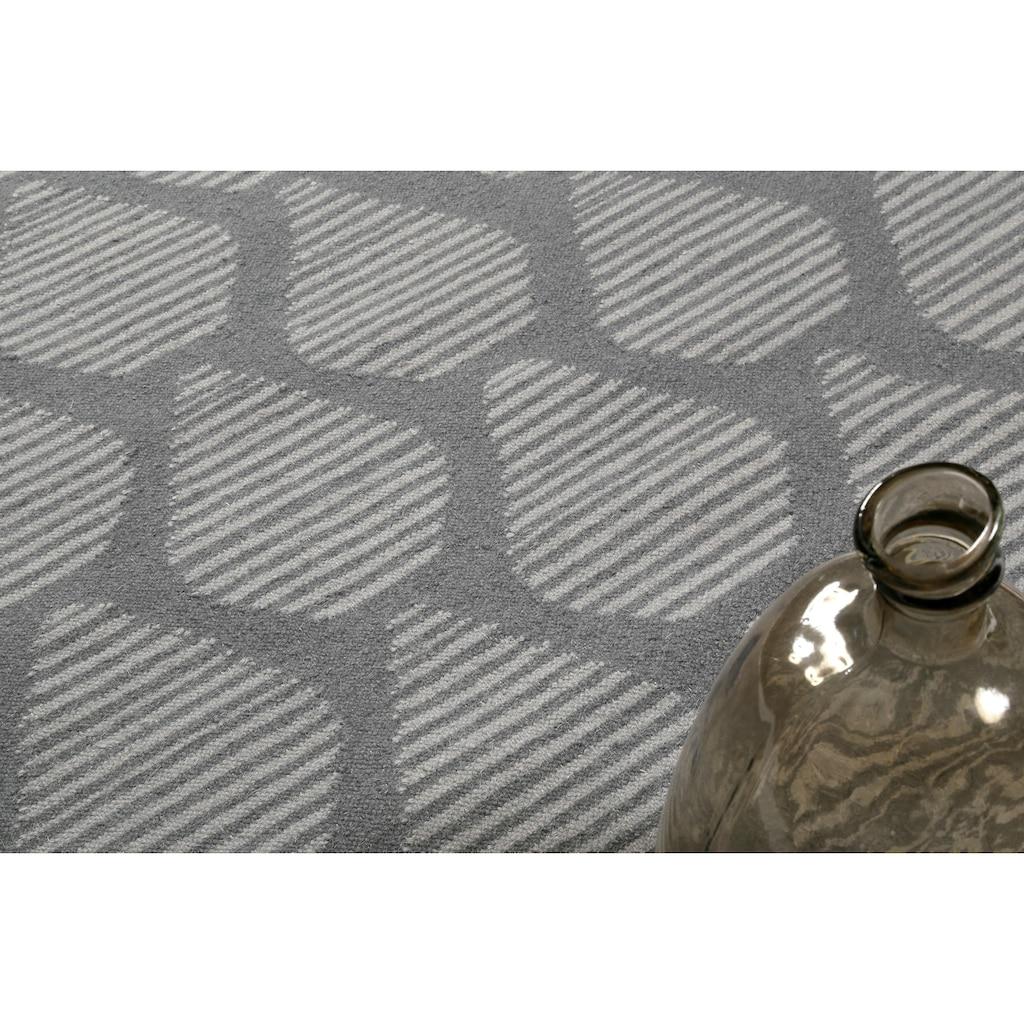 Esprit Wollteppich »Rainns Kelim«, rechteckig, 4 mm Höhe, reine Wolle, Wohnzimmer