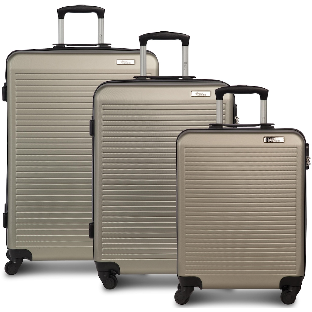 fabrizio® Trolleyset »Connect, Champagner«, (3 tlg.)