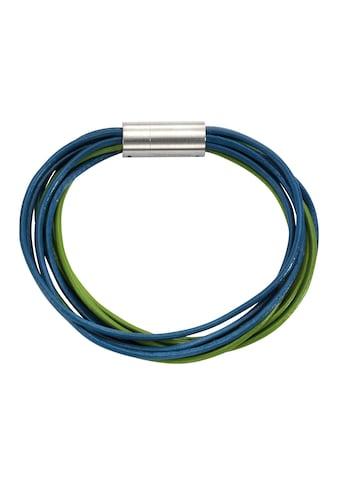 Zeeme Armband »Leder türkis Magnetverschluß aus Stahl« kaufen