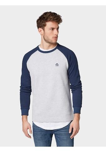 TOM TAILOR Denim Sweatshirt »Sweatshirt mit Logo-Stickerei« kaufen