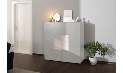 Villeroy & Boch Highboard »LUNA CARRÉ«, mit Keramik-Akzenttür in Carrara kaufen