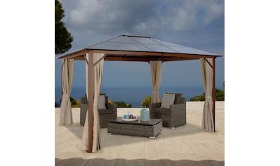 KONIFERA Pavillon »Holzoptik« mit Seitenteilen BxLxH: 300x365x270 cm kaufen