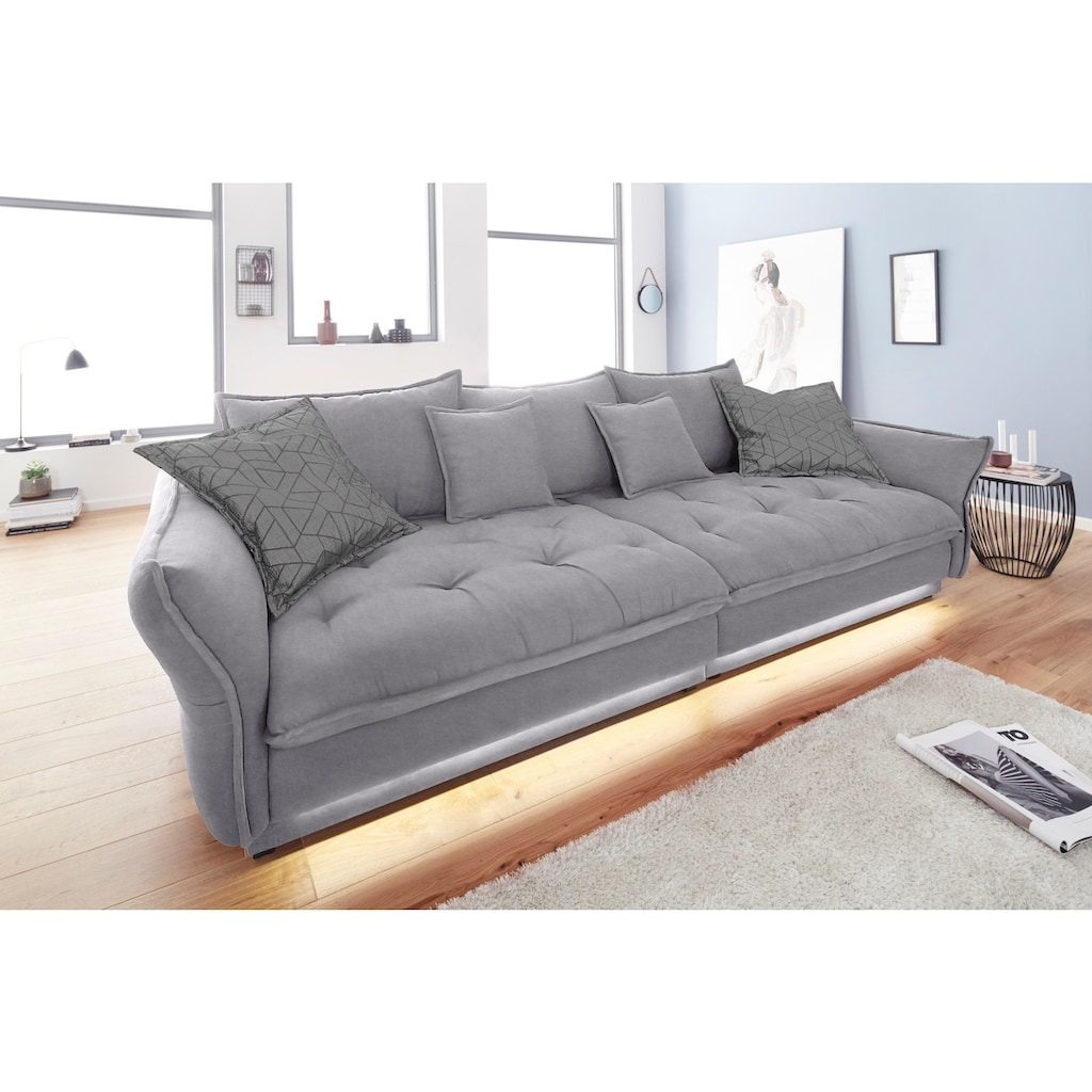 INOSIGN Big-Sofa »Palladio Luxus«, mit besonders hochwertiger Polsterung für bis zu 140 kg pro Sitzfläche, wahlweise LED-Beleuchtung