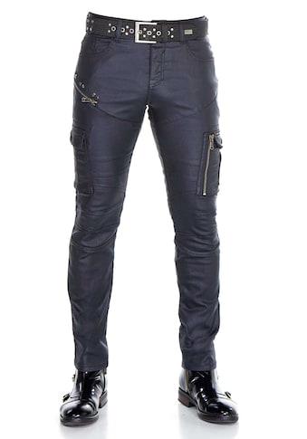 Cipo & Baxx Bequeme Jeans, mit coolen Zier-Reißverschlüssen in Straight Fit kaufen