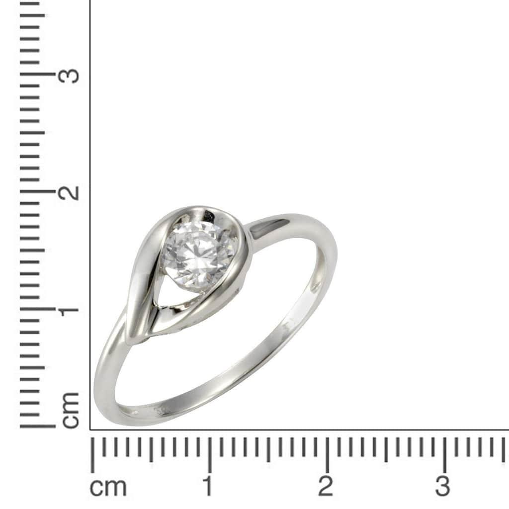 Jacques Lemans Ring 375/- Weißgold Zirkonia weiß