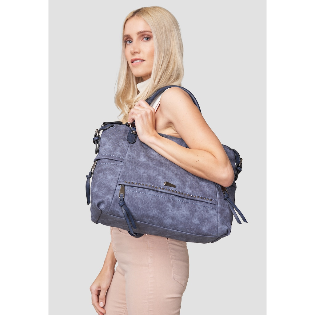 Emma & Kelly Henkeltasche, mit praktischen Zusatztaschen