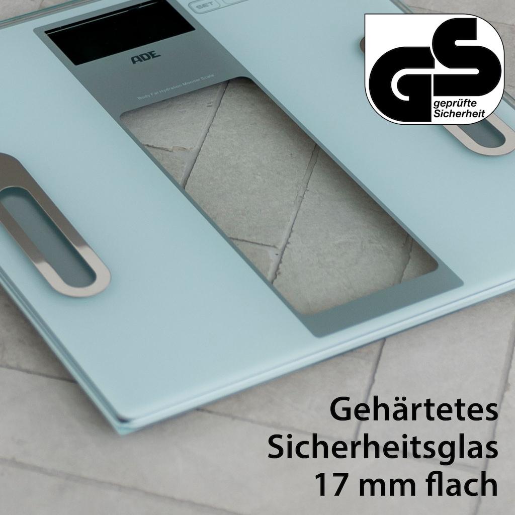 ADE Körper-Analyse-Waage »BA 1300/1301 Tabea«, extra flach aus Sicherheits-Glas