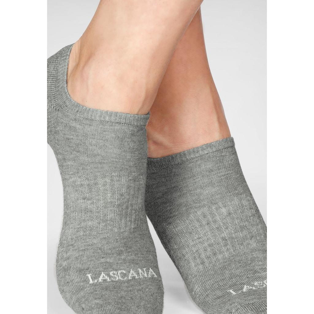 LASCANA ACTIVE Sneakersocken, (7 Paar), mit Fußfrottee