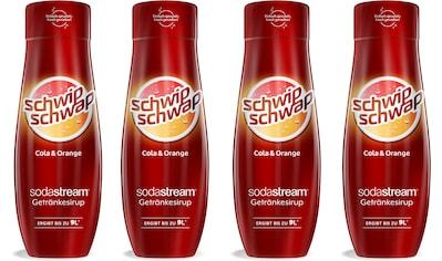 SodaStream Getränke-Sirup, SchwipSchwap (Cola & Orange), (4 Flaschen), für bis zu 9... kaufen