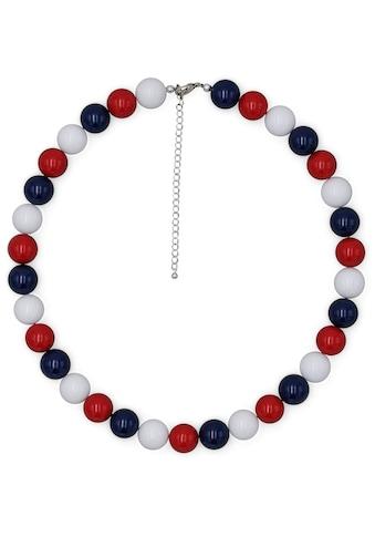 J.Jayz Collier »Perlenkette in blau, rot und weiß«, mit Kunststoffperlen, Made in Germany kaufen