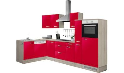 OPTIFIT Winkelküche »Faro«, mit E-Geräten, Stellbreite 300 x 175 cm kaufen