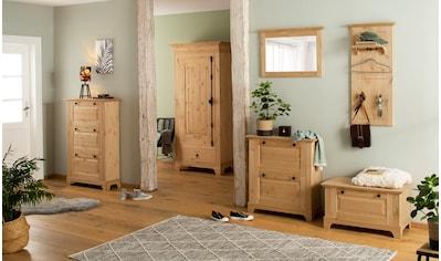 Home affaire Kleiderschrank »Yunus«, Kiefer massiv, viel Stauraum kaufen